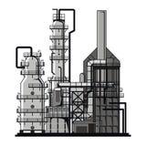 Refining. Apparatus for refining. Vector format royalty free illustration