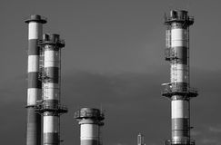 Refining plant Royalty Free Stock Images