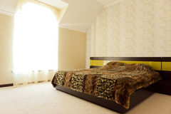 refitted славное спальни квартиры Стоковая Фотография