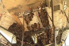 Refléter le toit du marché à Barcelone photos stock