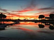 Refléter sur un lac à Figueira da Foz photo stock