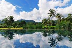 Reflétez du ciel et de la montagne Images libres de droits