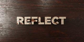 Reflétez - titre en bois sale sur l'érable - l'image courante gratuite de redevance rendue par 3D illustration de vecteur