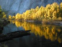 Reflcection de couleur d'automne Photo stock