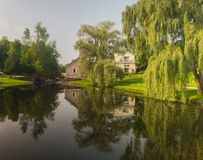 Reflecctions im Wasser stockfotos