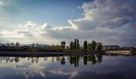 Reflecion wyspa Zdjęcia Stock