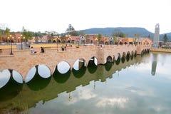 Reflect bridge Stock Image