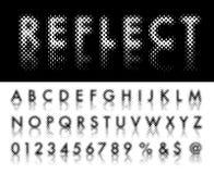 Reflect dot font Stock Image