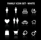 Reflect Family Icon Set (White) Royalty Free Stock Images