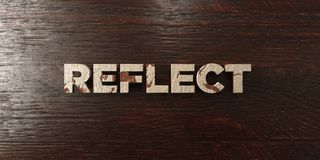 Reflect - grungy wooden headline on Maple  - 3D rendered royalty free stock image Stock Photos