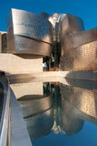 Reflect in Guggenheim museum. Bilbao, Spain stock image