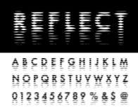 Reflect line font Stock Photo