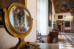Reflect of mirror in palace in Salzburg, Austria stock photos