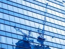 Reflect Of Crane Stock Image