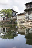 Reflect of old building in Hangzhou Wuzhen Water Town, Zhejiang Royalty Free Stock Photo