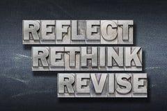 Free Reflect, Rethink Den Stock Photos - 125546393