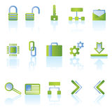 Reflect security icons Royalty Free Stock Photo