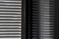 Reflect of shutter window. Reflect and shadow of shutter window royalty free stock photos