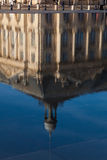 Reflect in the square of the bourse, Bordeaux Royalty Free Stock Image