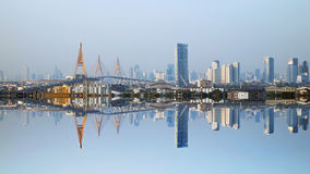 Reflect views of Bangkok city Stock Photo