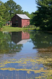 Reflected Barn Royalty Free Stock Photos