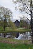 Reflected Barn stock photos