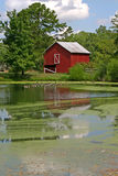 Reflected Barn (vertical) Royalty Free Stock Photo