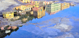 Reflected in camogli Stock Image