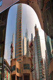 The reflected city royalty free stock photo