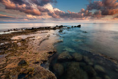 Reflected clouds, Capo Vaticano, Calabria, Italy Royalty Free Stock Photography