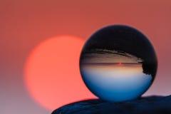 Reflected of coast Stock Image