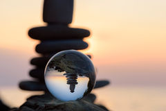 Reflected in the crystal ball Stock Photo