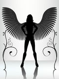 Reflected dark angel Stock Images