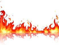Reflected fire flame stock illustration