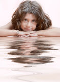 Reflected girl Stock Images