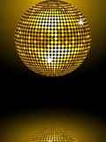 Reflected gold disco ball Royalty Free Stock Photo