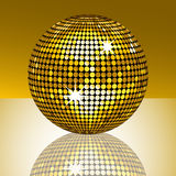 Reflected gold mirror ball Royalty Free Stock Photography