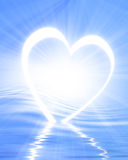 Reflected heart Stock Photography