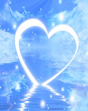 Reflected heart Royalty Free Stock Photography