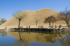 Reflected Korean Burial Mounds Stock Images