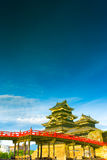 Reflected Matsumoto Castle Water Mirror Image V Royalty Free Stock Images