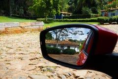 Reflected at the mirror Royalty Free Stock Photos