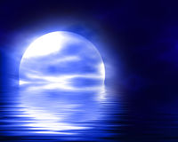 Reflected moon Royalty Free Stock Photos