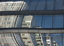 Reflected office buildings royalty free stock images
