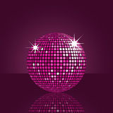Reflected purple disco ball Royalty Free Stock Photo