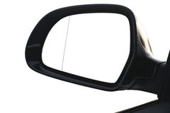 Reflected in the rearview mirror. Car rearview mirror  on white background Royalty Free Stock Photography