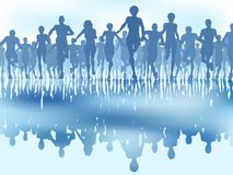 Reflected runners Royalty Free Stock Image