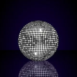 Reflected silver mirror ball Royalty Free Stock Images