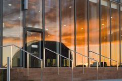 Reflected sunset Royalty Free Stock Photo