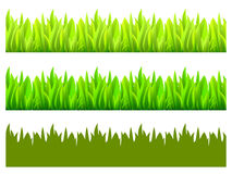 Reflected vector grass pattern Royalty Free Stock Images